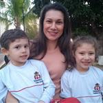 Daniela Montiel mãe da Maria Rita e do Pedro